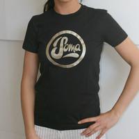 Soma Records Girlshirt (Black / Gold Print)