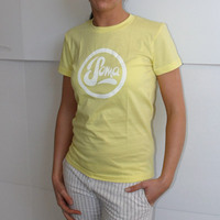 Soma Records Girlshirt (Yellow / White Print)