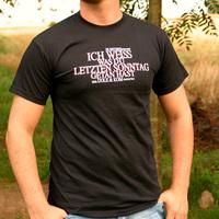 Ich Weiss was du Shirt (Black)