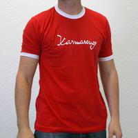 Karmarouge Ringershirt (Red / White)