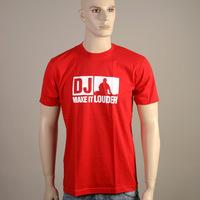 DJ - Make It Louder Logoshirt (Red)