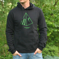 Mental Groove Records Hooded Sweater (Black)
