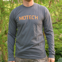 Motech Longsleeve (Asphalt / Orange Logo)