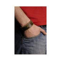 Northern Lite Unisex Slim Leatherbracelet (Green)