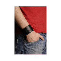 Northern Lite Unisex Wide Leatherbracelet (Black)