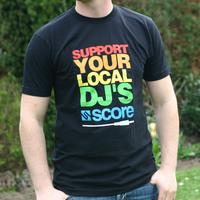Support Your Local DJs Logoshirt (Black)
