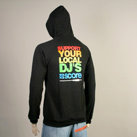 Support Your Local DJs Hooded Sweater (Black)