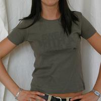 TERMINAL M GIRLIE SHIRT - NEW DESIGN OLIVE