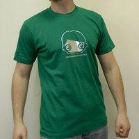 Toys for Boys Shirt (Kelly Green / Silver Print)