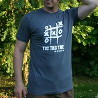 Tic Tac Toe Logo Shirt (Asphalt)