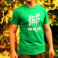 Tic Tac Toe Logo Shirt (Kelly Green)
