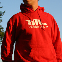 Terminal M Hooded Logo Sweater (Red)