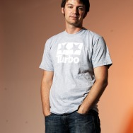 Turbo Logo Shirt (Heather Grey - White Logo)
