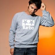 Turbo Logo Sweater (Heather Grey)