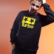 Turbo Logo California Fleece Sweater (Black)