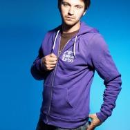 Turbo Logo Flex Fleece Zip Hoody (Purple)