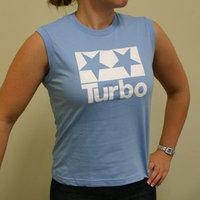 Turbo Logo Girl Muscle Shirt (Baby blue - White)