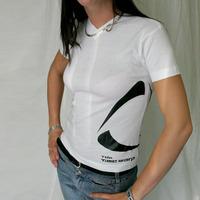 TDK Time Warp V-Neck Girl Shirt (White)