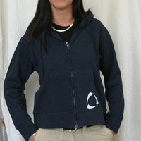 Girl Zip up Hoodie (Navy) Time Warp