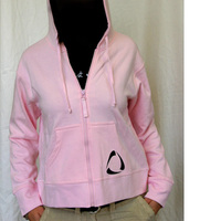 Girl Zip up Hoodie (Pink) Time Warp