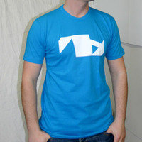 Vakant Records VA Logoshirt (Bright Blue / Teal)
