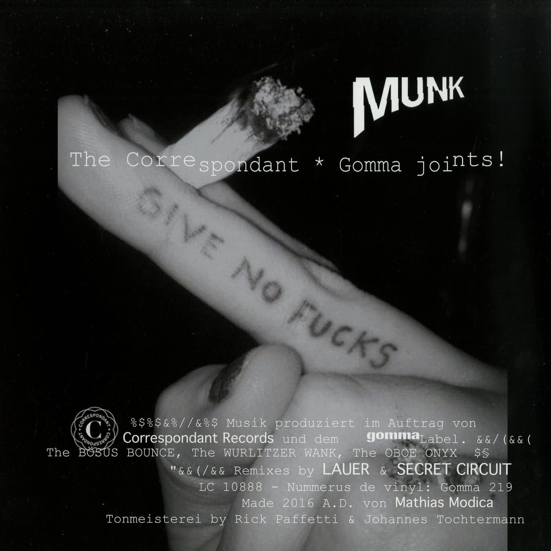 Munk - THE CORRESPONDANT GOMMA JOINTS