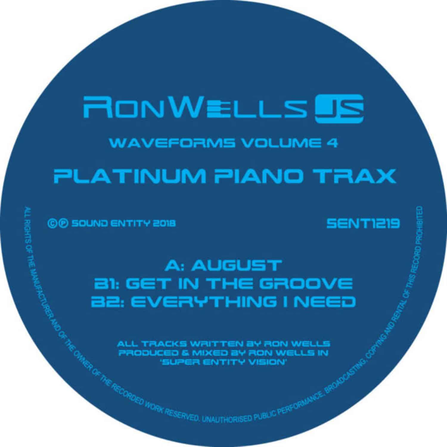 Ron Wells - WAVEFORMS IV, PLATINUM PIANO TRAX