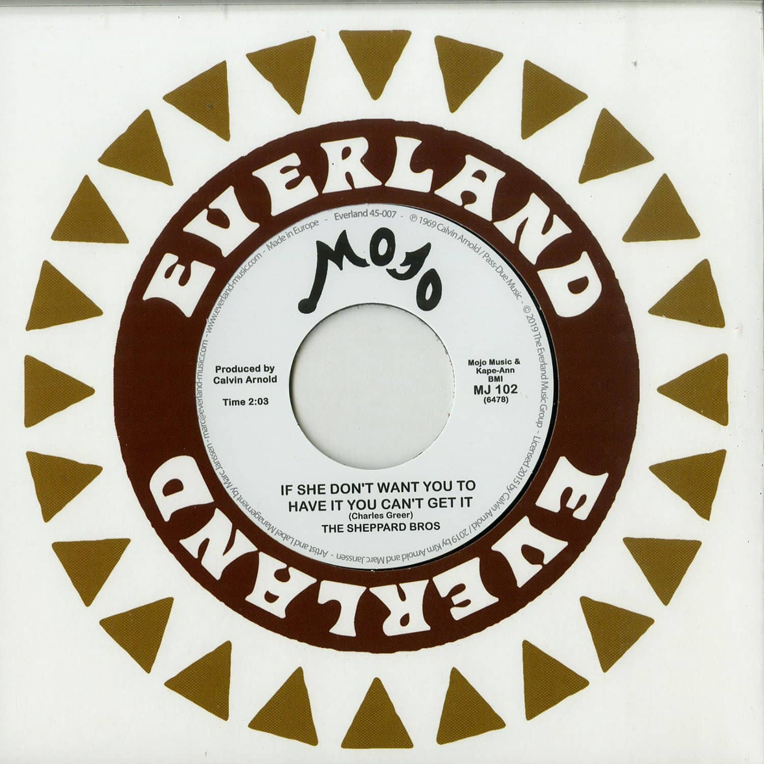 The Sheppard Bros. - IF SHE DONT WANT YOU TO HAVE IT YOU CANT GET IT / MR. FOOL