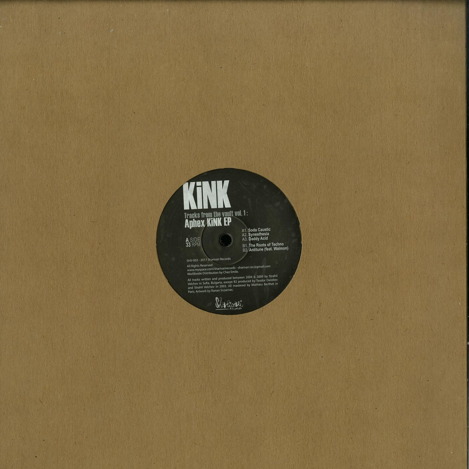 KiNK - TRACKS FROM THE VAULT VOL.1 : APHEX KINK EP