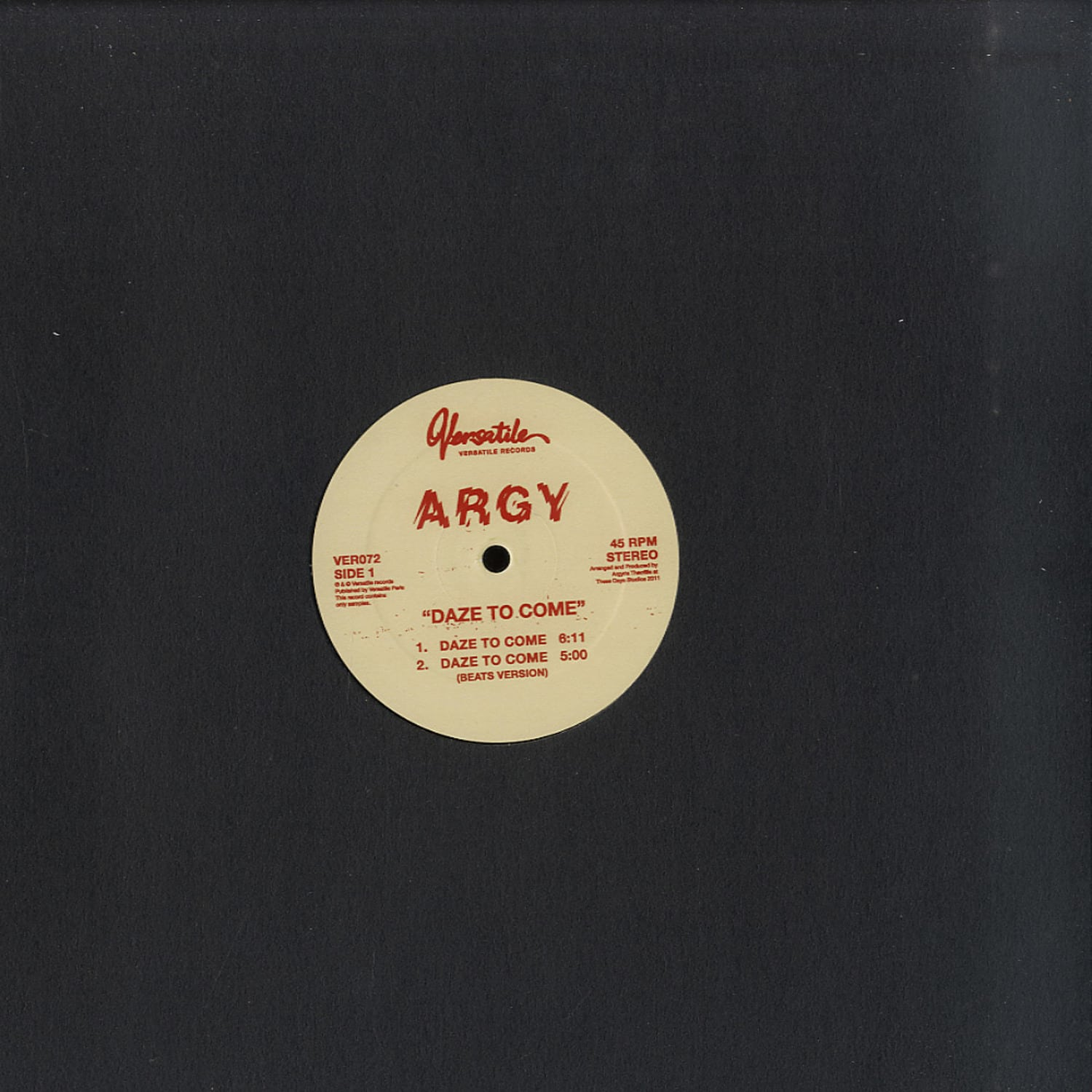 ARGY - DAZE TO COME TO DIFFERENCE