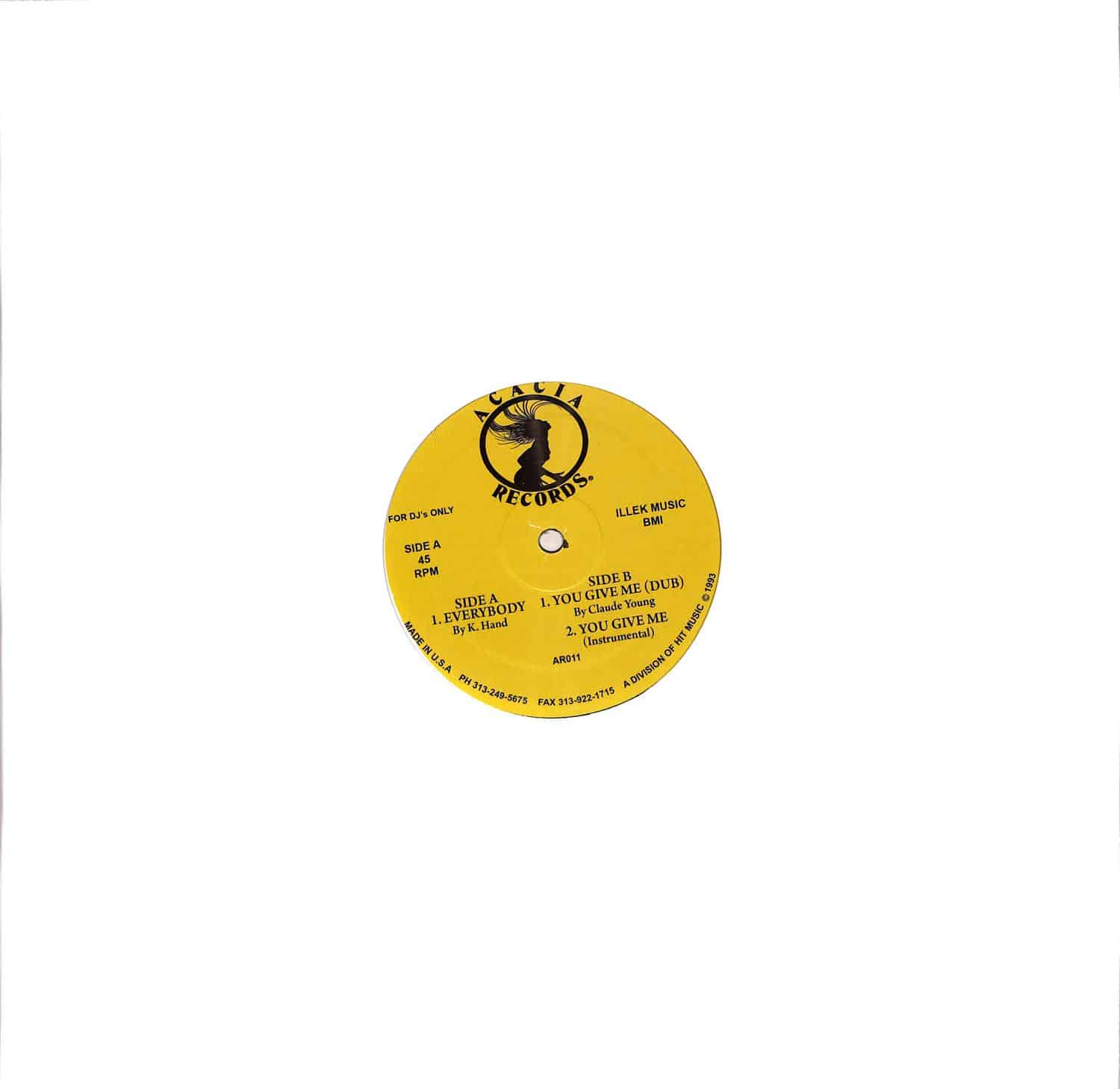 K-Hand / Claude Young - EVERYBODY / YOU GIVE ME