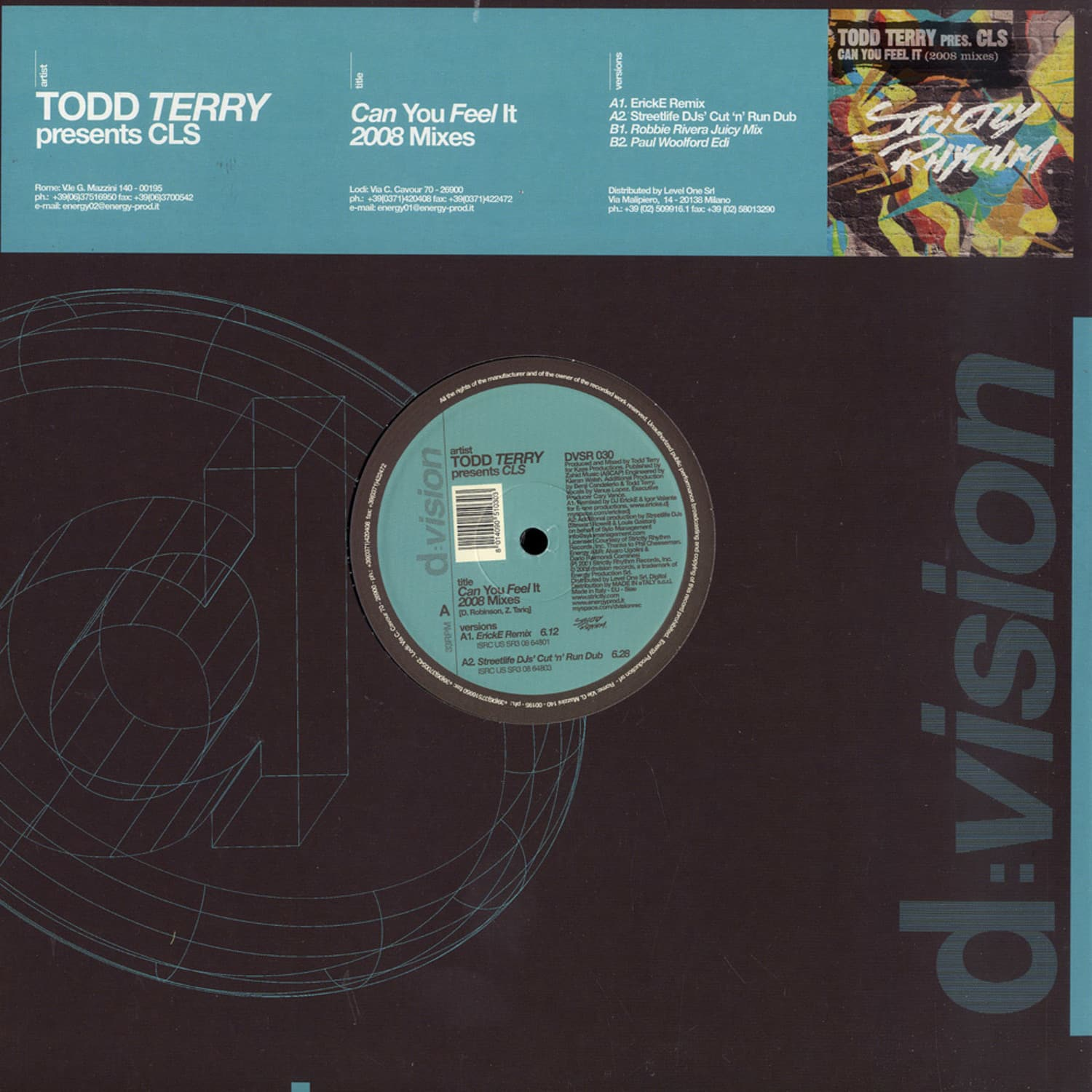 Todd Terry presents CLS - CAN YOU FEEL IT 2008