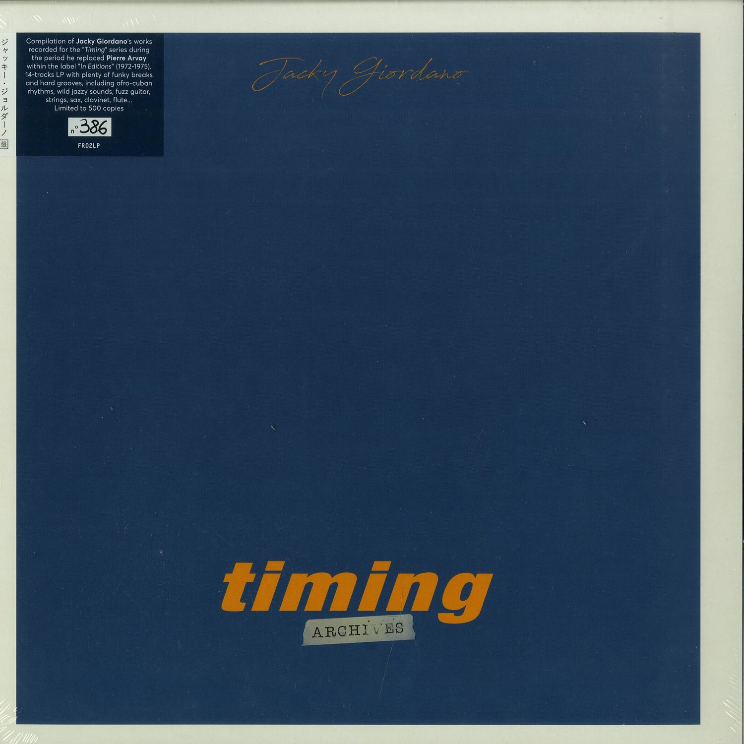 Jacky Giordano - TIMING ARCHIVES