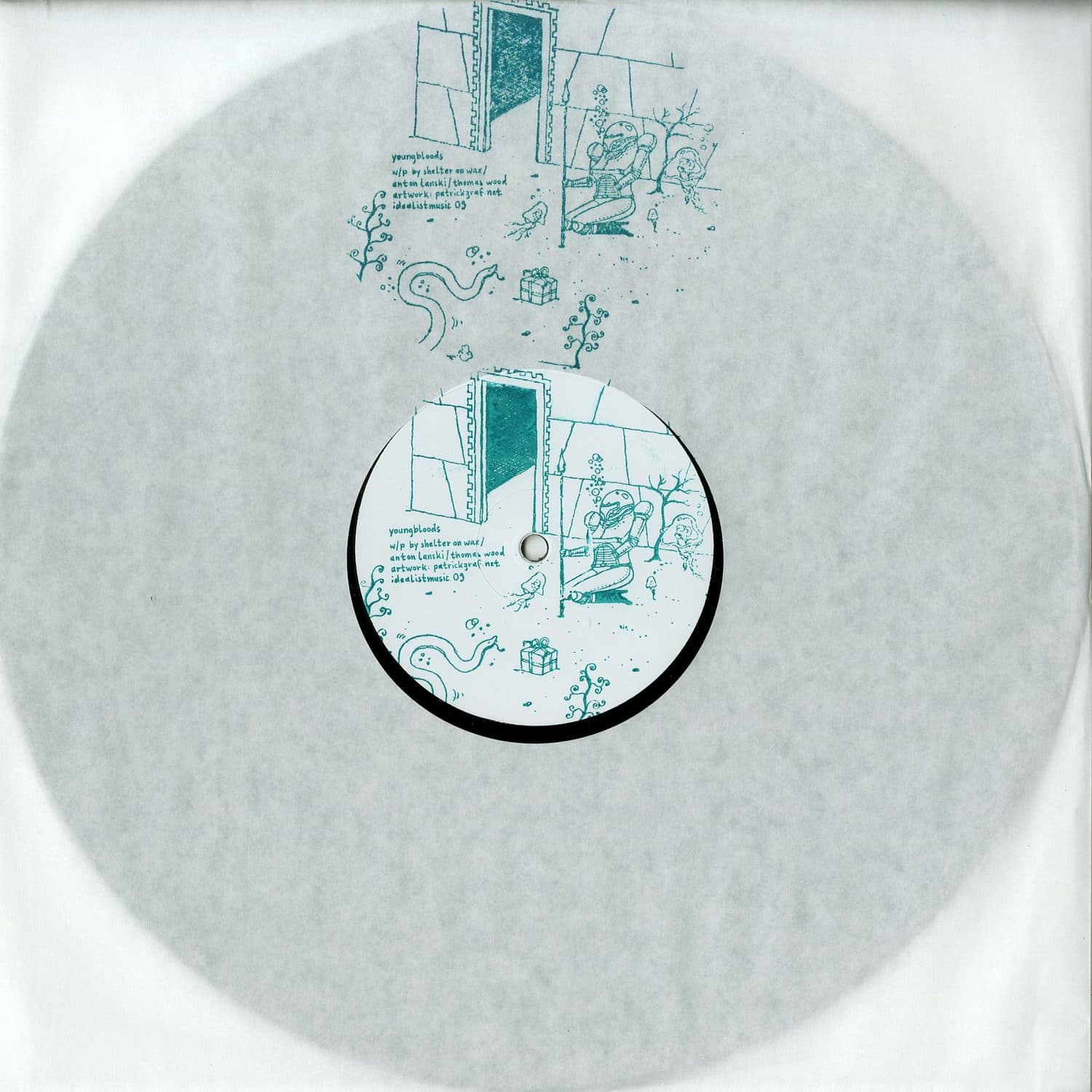 Shelter on Wax / Anton Lanski / Thomas Wood - YOUNGBLOODS VINYL ONLY)