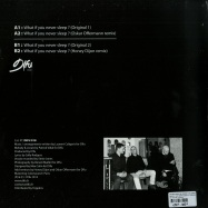 Back View : Patrick Vidal & Laurent Caligaris - WHAT IF YOU NEVER SLEEP? (O. OFFERMANN / HONEY DIJON RMXS) - D!fu Records / DIFU018