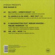 Back View : Various Artists - HYENAH PRESENTS RISE RADAR 01 - Rise Music / RISE005 / RISE05