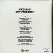 Back View : Marco Faraone - MATTER OF PERSPECTIVE (INC MARK BROOM / EFDEMIN / MIKE HUCKABY REMIXES) - Uncage / UNCAGE011