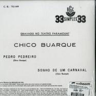 Back View : Chico Buarque De Hollanda - PEDRO PEDREIRO / SONHO DE UM CARNAVAL (7 INCH) - Polysom (Brazil) / 332497