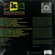 Back View : Various Artists - SKA - FROM THE VAULTS OF FEDERAL RECORDS (LP) - Kingston Sounds / KSLP081 / 05175991
