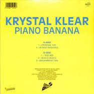 Back View : Krystal Klear - PIANO BANANA - Running Back / RB101