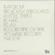 Back View : Playgroup - PREVIOUSLY UNRELEASED EP 9 - Yes Wave / YWP009