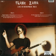 Back View : Frank Zappa - LIVE IN NOVEMBER 1973 (180G LP) - DOL / DOR2155H / 7982038