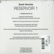 Back View : Sarah Hennies - RESERVOIR 1 (CD) - Black Truffle / Black Truffle 053