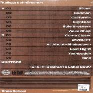 Back View : Kollege Schnuerschuh - SHOE SCHOOL (LP) - Dedicate / DDCT002