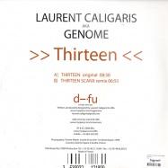 Back View : Laurent Caligaris Aka Genome - THIRTEEN - Difu001