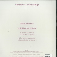 Back View : ESB / MIHAIL PETROVSKI - LULLABIES FOR ROBOTS (180 G VINYL) - Verdant / VR 004