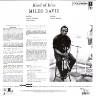 Back View : Miles Davis - KIND OF BLUE (LP) - Sony Music / 88875111921