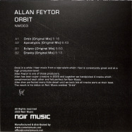 Back View : Allan Feytor - ORBIT (TRANSPARENT VINYL) - Noir Music / NM003