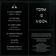 Back View : Various Artists - FORM IS VISION - Gifted Culture  / GFTDCVLTR004