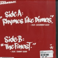 Back View : MF Doom - RHYMES LIKE DIMES / THE FINEST (7 INCH) - Metal Face / MF101-7